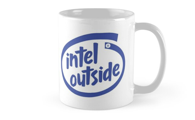 Freaky Logo - Intel Outside by cadcamcaefea