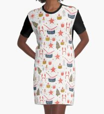 Christmas with Toys Graphic T-Shirt Dress
