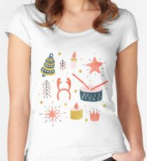 Christmas with Toys Women's Fitted Scoop T-Shirt