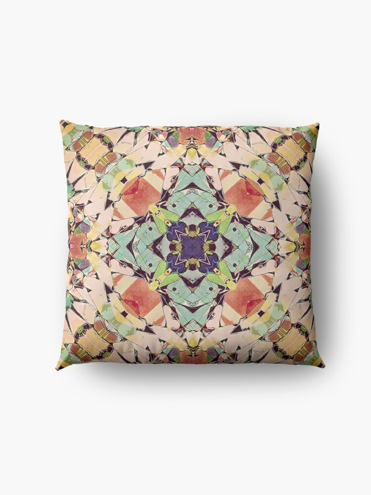 Alternate view of Abstract Mandala Floor Pillow