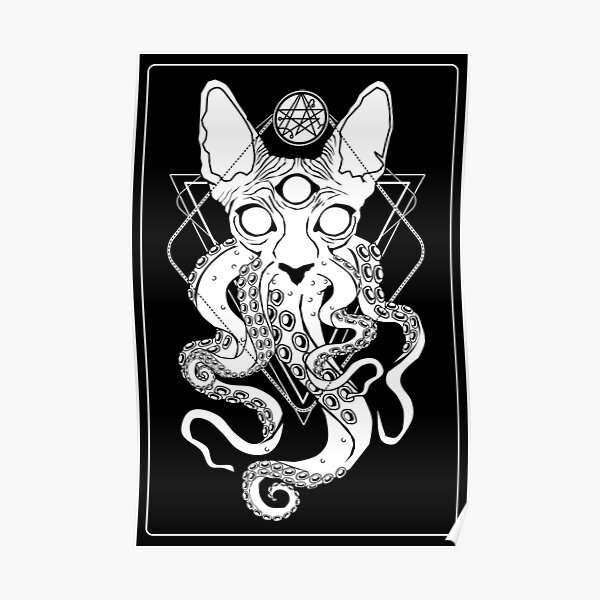 CATHULHU - the cosmic tentacle cat Poster