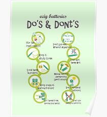 Vape Design Do's and dont's Batteries Poster