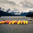 Maligne Lake in Jasper NP by Yukondick