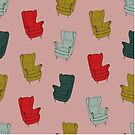 Seventies Armchair Pattern - Version 1 by Printables Passions
