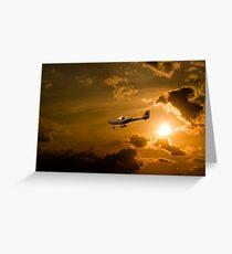 Firy Sky Landing Greeting Card
