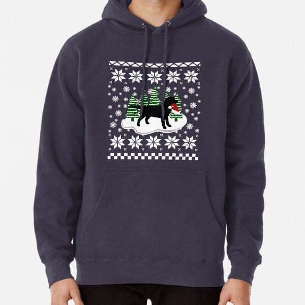 Christmas Black Labrador with Santa Hat Men/'s Sweatshirt Jumper