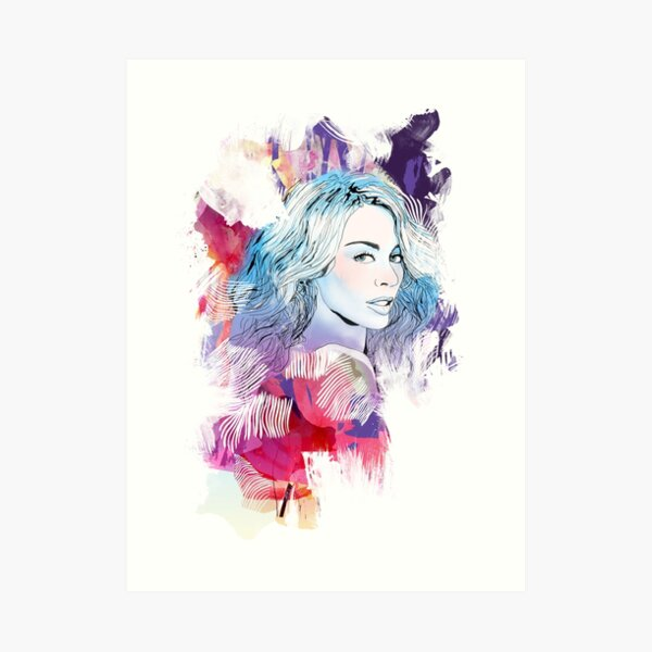 Kylie Minogue portrait Art Print