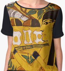 Egyptian Art Pattern Chiffon Top