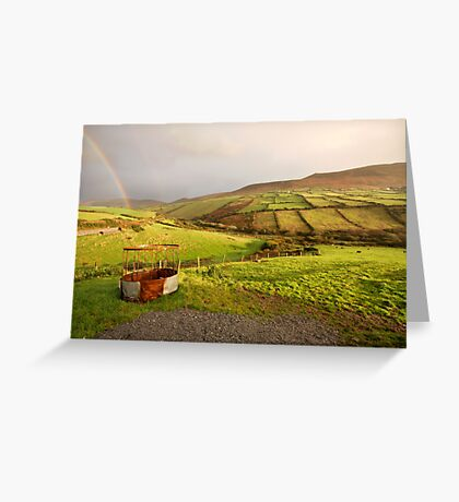 A pot of gold in the fields of Kerry Greeting Card