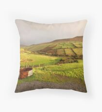 A pot of gold in the fields of Kerry Throw Pillow
