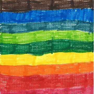 Rainbow in markers  by degreek