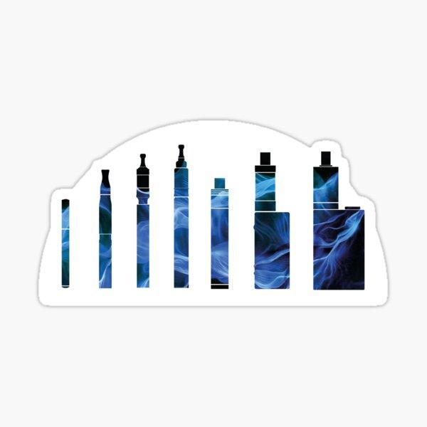 Vape Design Evolution Hardware Blue Vapor Sticker