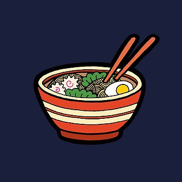 Ramen Bowl Pattern in Dark Blue by evannave