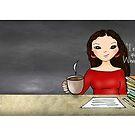 Teacher tote-long wavy by cardwellandink