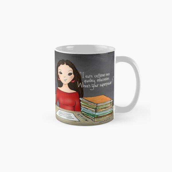 Teacher tote-long wavy Classic Mug