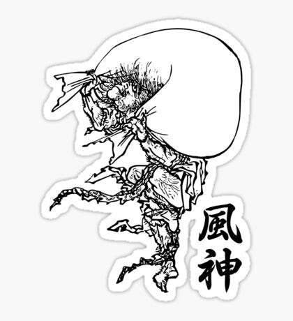 Fujin - Wind God Sticker