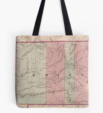 Vintage Map of Wyoming (1878) Tote Bag