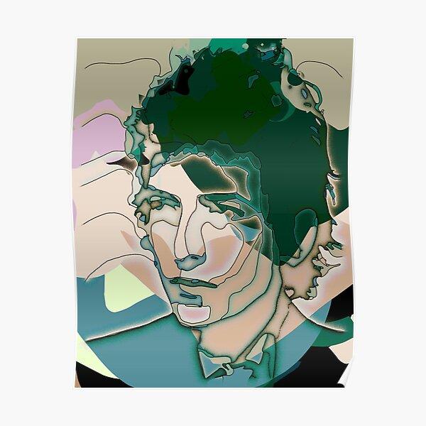 Dylan cubist portrait Poster