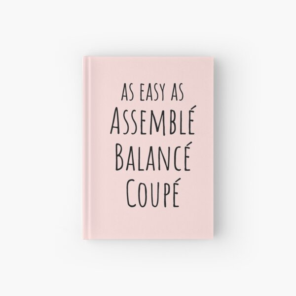 As Easy As Assemble Balance Coupe Hardcover Journal