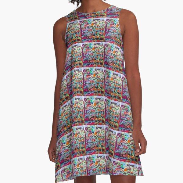 Hexagram 51: Zhen (Thunder) A-Line Dress