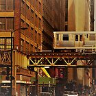 L-Train in Chicago Loop by jclegge