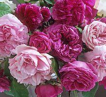 Antique Rose Bouquet #3 by Suzanne Lewis