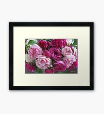 Antique Rose Bouquet #3 Framed Print