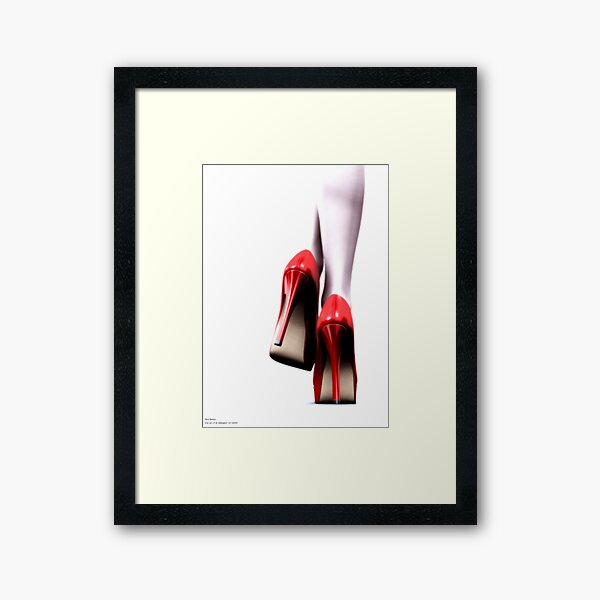 ..A study in red.. Framed Art Print