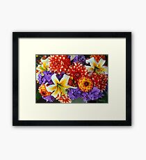 Clearly Summer, Dahlias & Lily #3 Framed Print