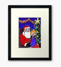 He knows what he wants for Christmas Framed Print