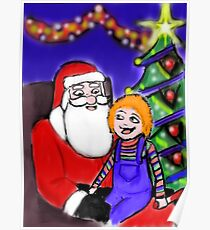 He knows what he wants for Christmas Poster