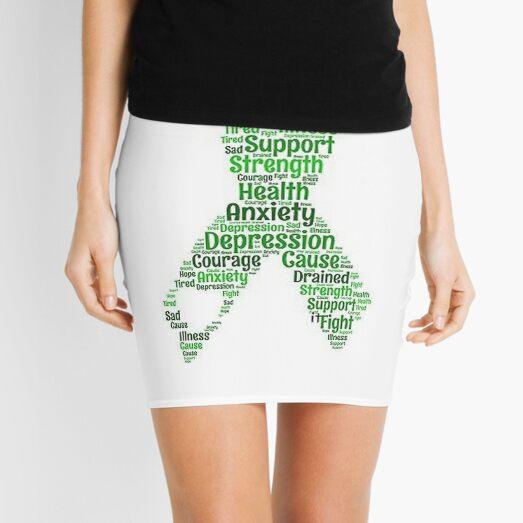 Mental Health Awareness Art Mini Skirt