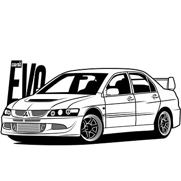 Mitsubishi Lancer Evolution EVO 8 Best Shirt by CarWorld