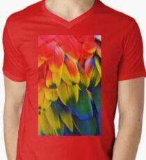 Parrot Feathers Men's V-Neck T-Shirt