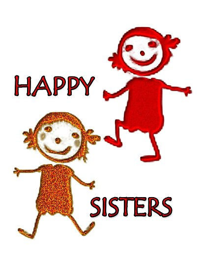 FOR KIDS - HAPPY SISTERS-  Art + Products Design  by haya1812