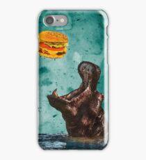 Hippo's Hamburger Dinner iPhone Case/Skin