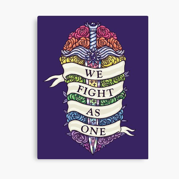 WE FIGHT AS ONE Canvas Print
