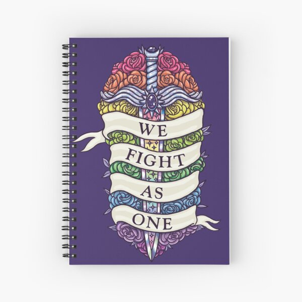 WE FIGHT AS ONE Spiral Notebook