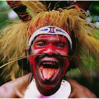 Eating a Betel Nut in Papua New Guinea by DEC02