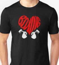 Boxing Sport Player I Boxing Revision Heart Birthday Gift Unisex T-Shirt
