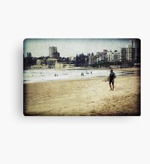 Old Time Surfer Canvas Print