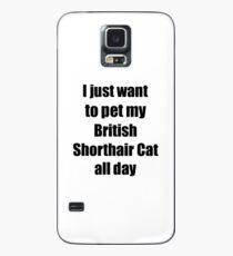 Funda/vinilo para Samsung Galaxy British Shorthair Cat Lover Mom Dad Funny Gift