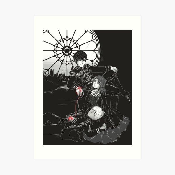 Inktober: Herongraystairs Art Print