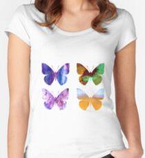 Watercolor Butterflies 2 Women's Fitted Scoop T-Shirt