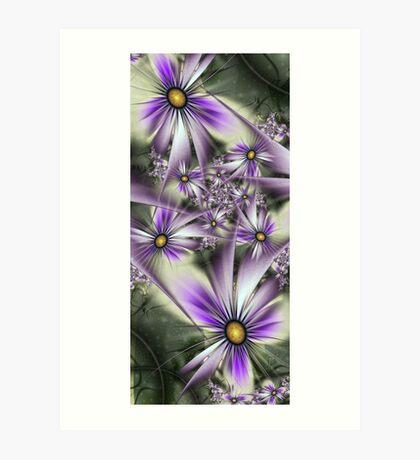 Flower touch Art Print