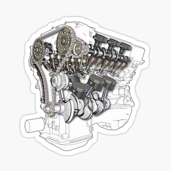 Motor vr6 Pegatina