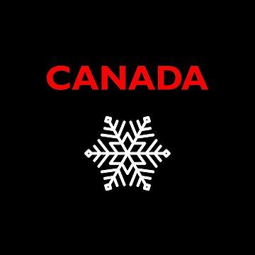 Canada Six-Sided Snowflake Star Dark Color by TinyStarCanada
