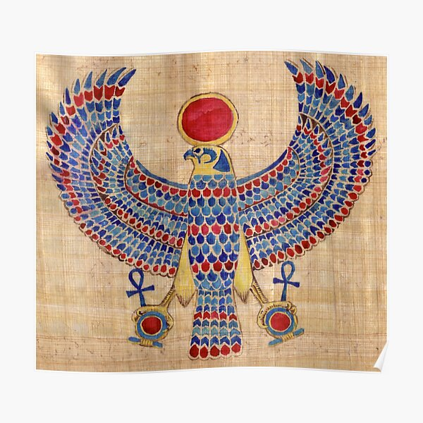 Ra: Falcon Pectoral [Papyrus] Poster