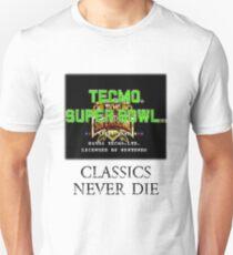 Tecmo Super Bowl Classics Never Die Unisex T-Shirt