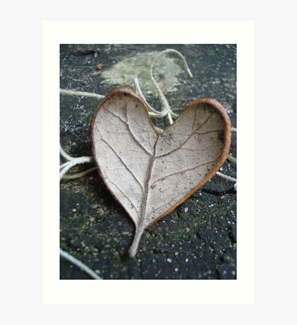 """The """"I Love You"""" Leaf Art Print"""